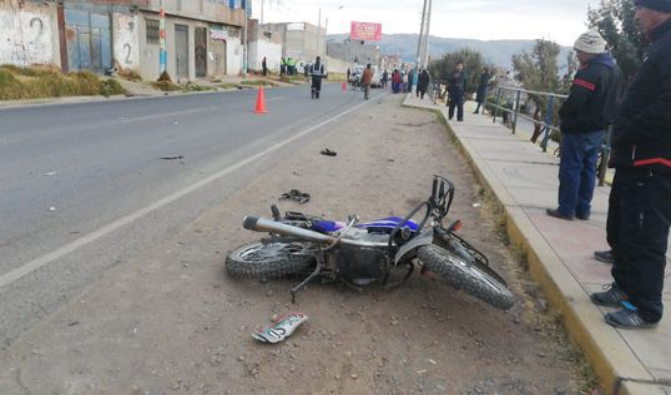 Trabajador se trasladaba a bordo de su moto