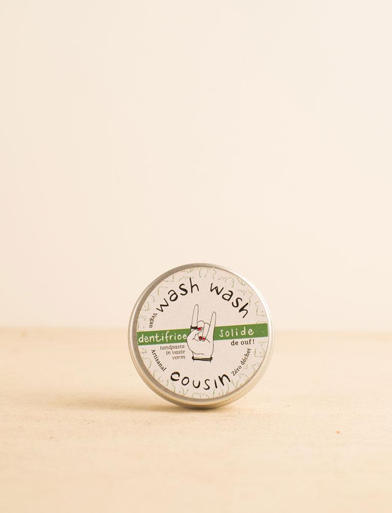 La ressource soins visage dentifrice menthe wash wash cousin local naturel bio belgique Zero déchet