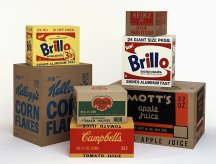 Brillo, Kellog's, Del Monte, Heinz, Mott's and Campbell's boxes