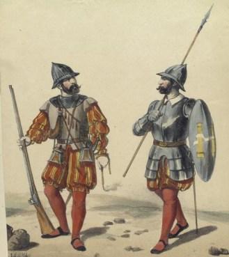 8-Soldats espagnols de l'époque des Conquistadores (Source-Collection Vinkhuijzen)