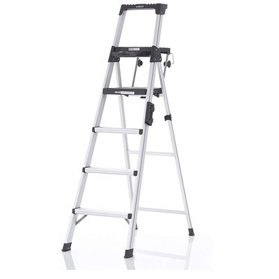 slim step ladder for easy carrying.