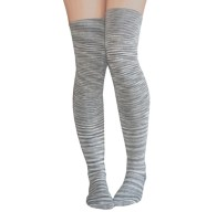 Space grey thigh high socks