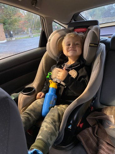 Owen smiling ear to ear on the way to the doctors. Social Media trolls wont get to him!