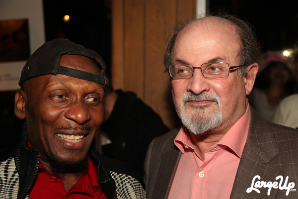 Jimmy Cliff and Salman Rushdie at Miss Lily's Variety