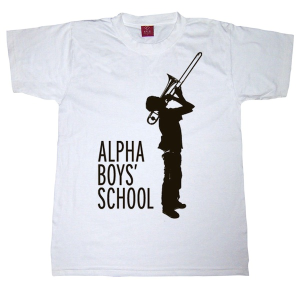 shirt white alpha black logo
