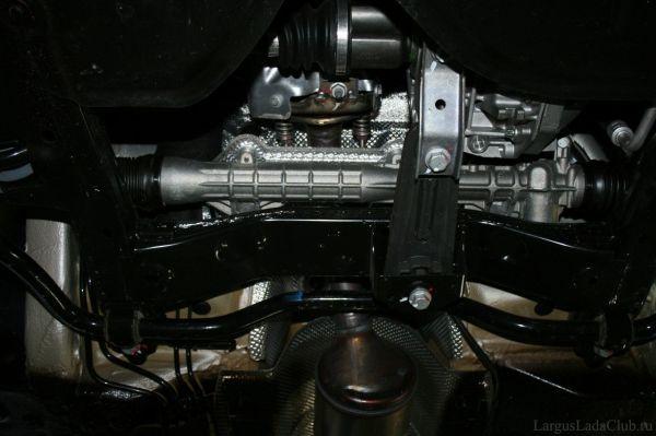 Фото передней части днища Lada Largus - Неофициальный Лада ...