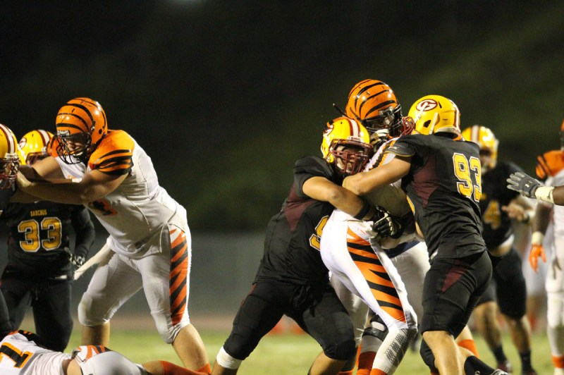 Gauchos loose in close game at home against Riverside in 34-37 game. (Photography/Allison Gale)