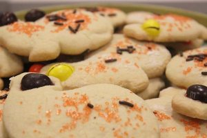 Sharon participated in Random Acts of Kindness at Saddleback, #RAKaS, by bringing homemade sugar cookies shaped as turkeys to the Veterans Center. (photograph/Hannah Tavares).