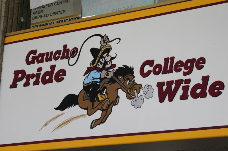 The Gaucho image is still loud and proud in a few buildings across campus. (Johnathan Anson)