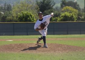 Ryan Abady prepares to throw a ball.
