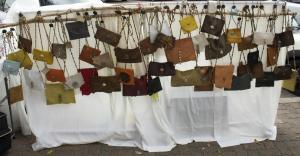 Bohemian Rags unique display of purses. (Photo by Niko LaBarbera)