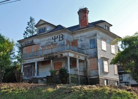Former Psi Beta pledge Jack Graunbeck was found living in abandoned fraternity house (Photo illustration)