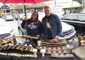 Bill and Tracey Wertz frequent the San Clemente Village Art Fair as well as the Dana Point Famers Market. (Photo by Niko LaBarbera)