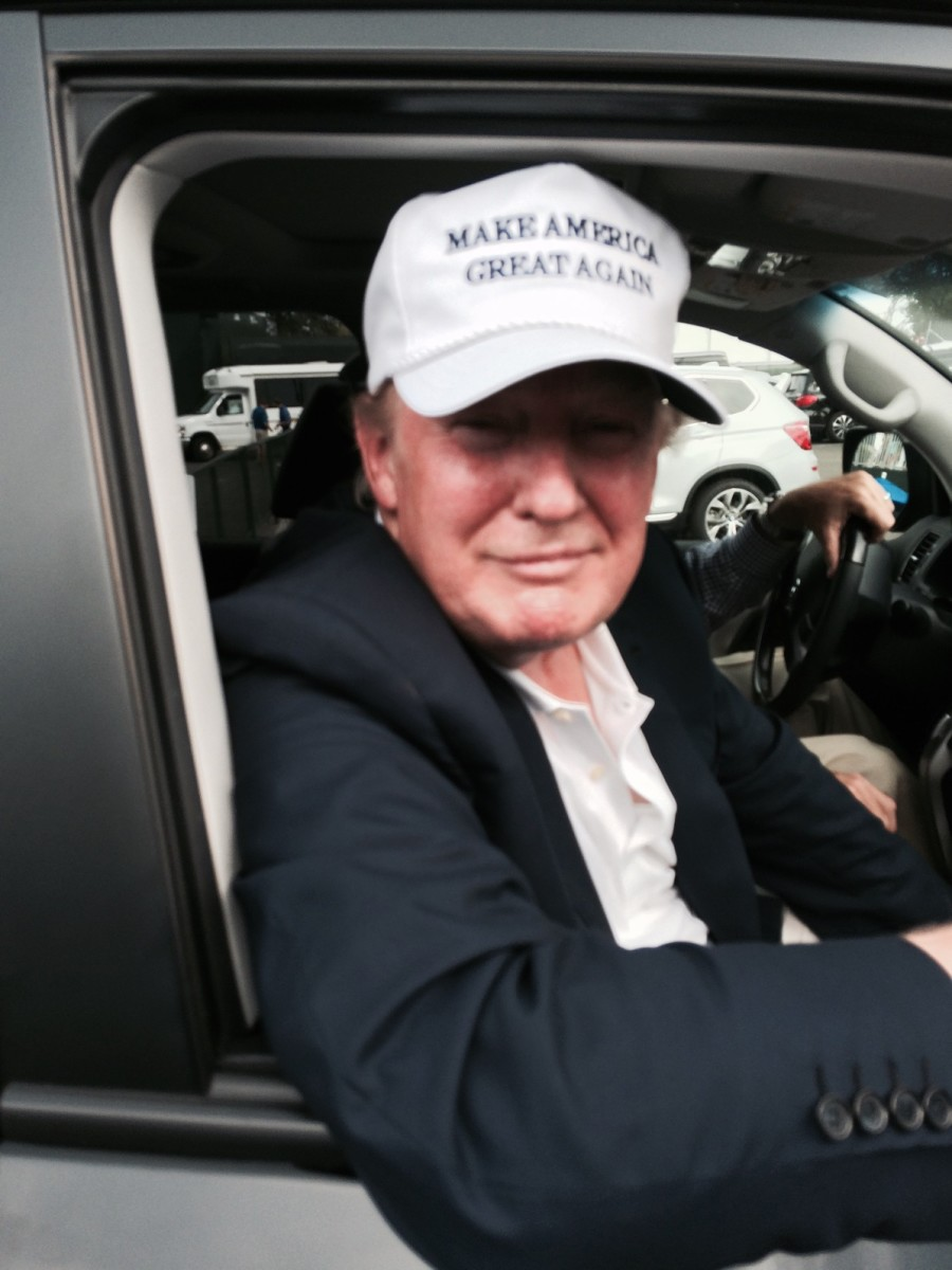GOP Republican candidate, Donald Trump on campaign trail. tells America the threat of the ISIL take over promoting racial Islam. and the Jade Helm conspiracy theories focus. (Photograph/Mike Ortega)