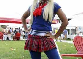 Vanessa Lee, 18, math major is dressed as Sailor Moon.