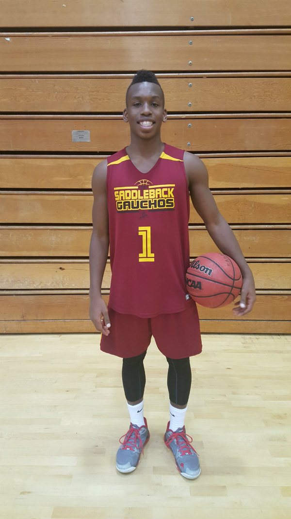 T.J. Shorts freshman point guard for Saddleback Gauchos basketball