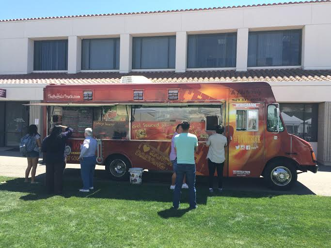 The Buffalo Truck stopping by Saddleback College on April 19 (Jacob Tatham/Lariat)
