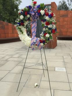 Saddleback Community College presents flowers in honor of those who lost their lives 15 years ago.