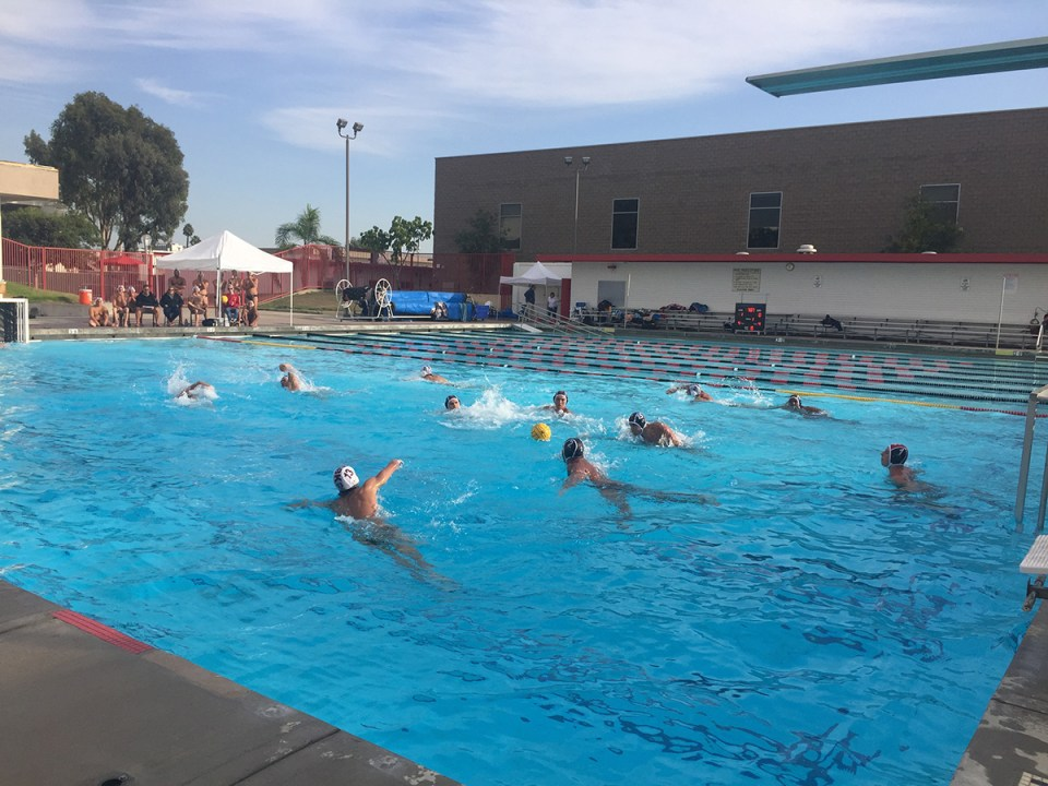 Saddleback College men's water polo team executed a win at hosts Santa Ana College 16-8. (Denisse Hobson)