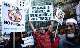 Citizens protesting Trump.