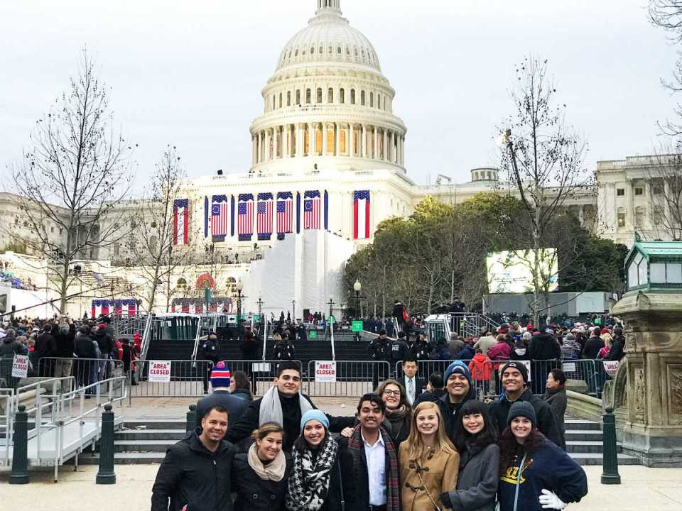 ASG anticipates the presidential inauguration of Donald Trump, outside the U.S. Capitol. Jan. 20, 2017. (Courtesy of ASG)