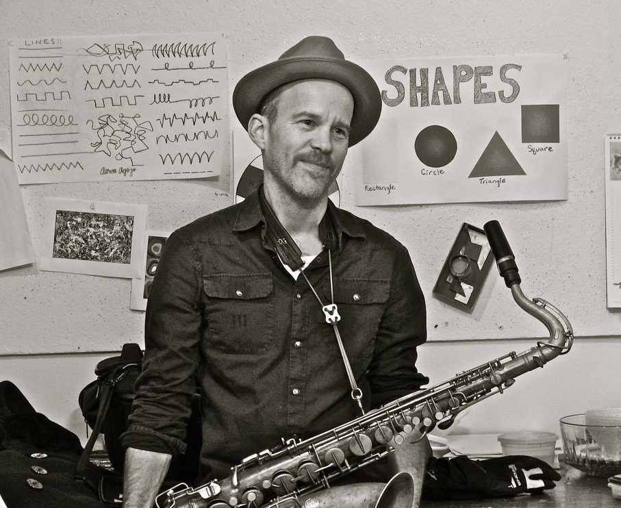Chris Speed with his tenor saxophone (Courtesy of Chris Speed)