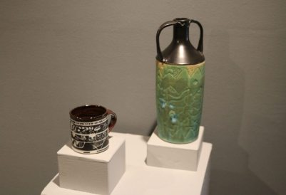 """RW Cup"" and ""Carved Bottle"" (by Richard White)"