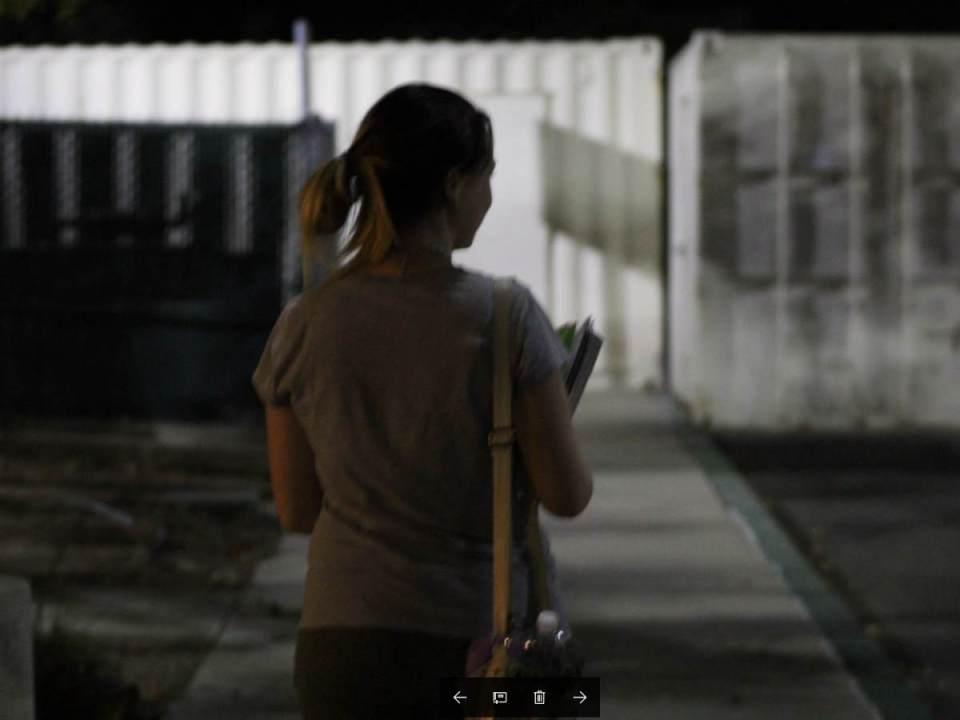 Early Child Development Major, Bryana Koch, walks to her car from a class. (Daniela Sanchez/ Lariat)