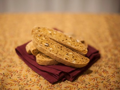 Homemade almond biscotti. (Ally Beckwitt/Lariat)