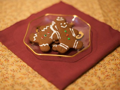 Homemade gingerbread cookies and hand decorated with icing and sprinkle candies. (Ally Beckwitt/Lariat)