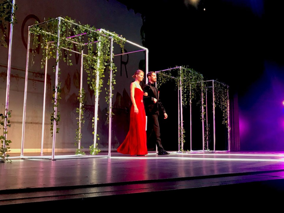 Emily Reynaga's design earned second place in the Evening Wear category. (Holly Broxterman/Lariat)
