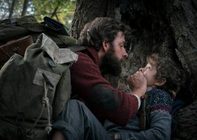 "John Krasinski (left) and Noah Jupe (right) in ""A Quiet Place."" (Paramount Pictures)"