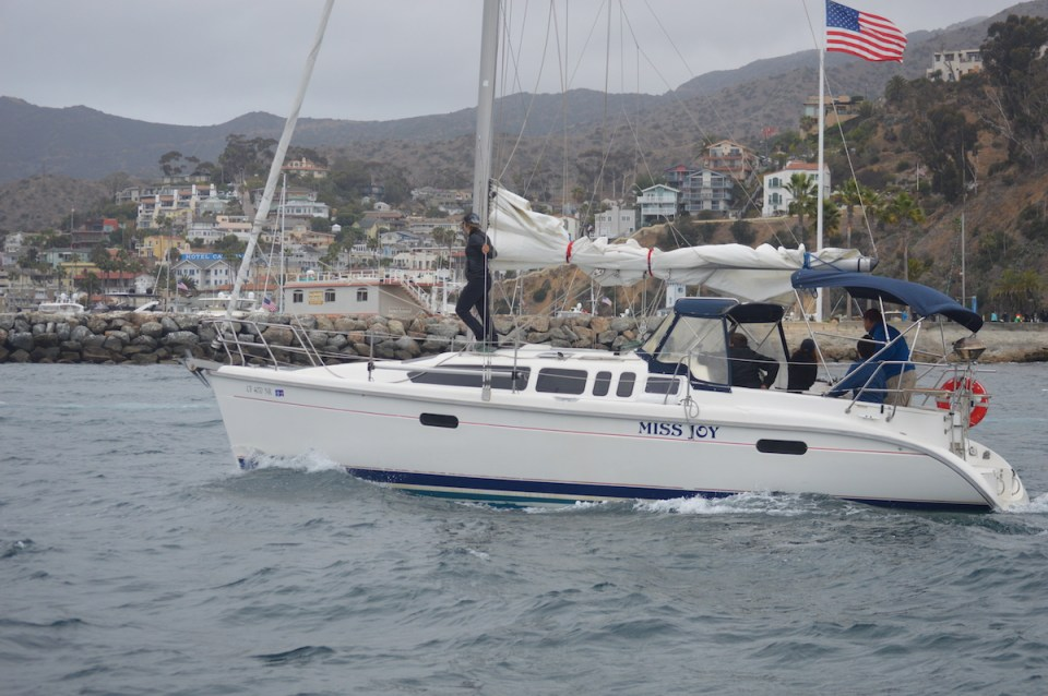 Crew of Miss Joy approaching the quaint community of Avalon, Catalina Island. (Andrea Clemett/Lariat)