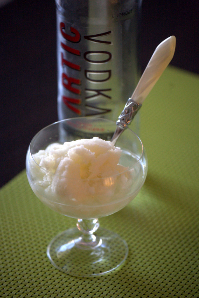 Sorbetto al lime, zenzero e…vodka