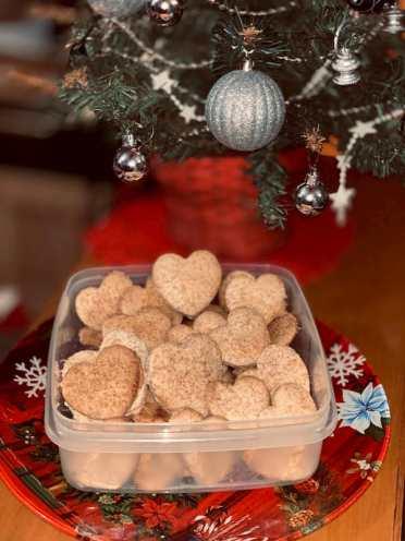 I biscotti integrali bio sotto l'albero