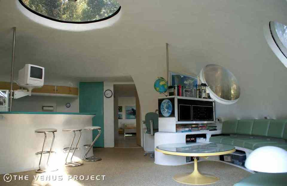 All'interno del centro del Venus Project in Florida