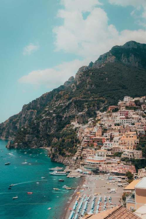 Visitare la Costiera Amalfitana: Positano dall'alto