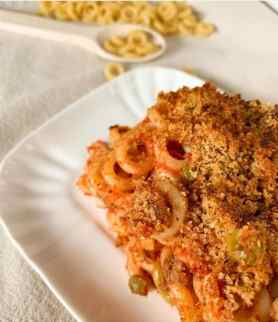 Un altra ricetta della pasta al forno con gli anelletti