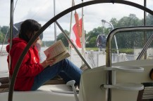 Reading in the cockpit