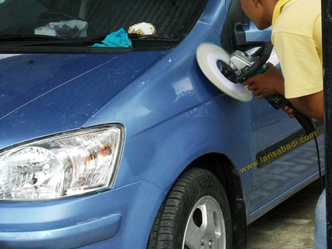 Polishing Hyundai Getz