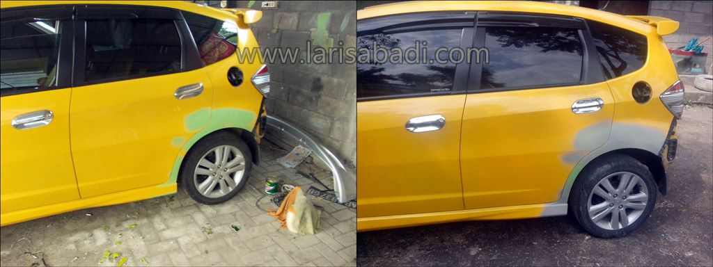 Dempul Honda Jazz RS Yellow