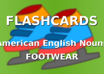 Flashcards with footwear