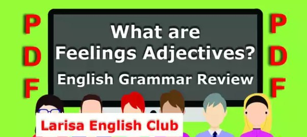 What are Feelings Adjectives PDF