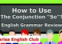 How to Use The Conjunction So Audio