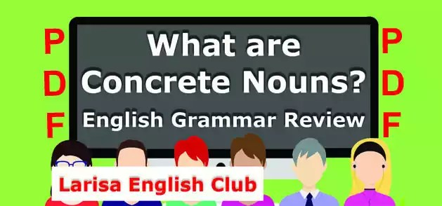 What are Concrete Nouns PDF