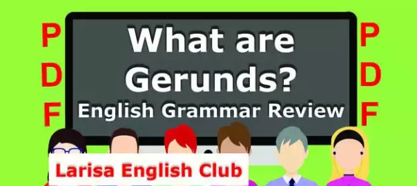 What are Gerunds PDF