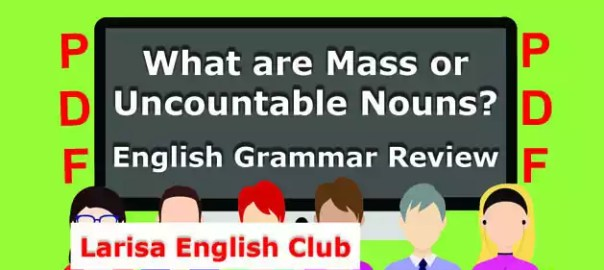 What are Mass or Uncountable Nouns PDF