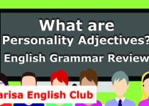 What are Personality Adjectives Audio