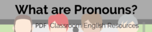 What are Pronouns PDF
