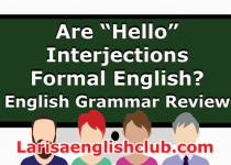 LEC Hello Interjections in Formal English